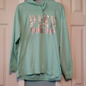 VS PINK Medium long sleeve shirt with hoodie.